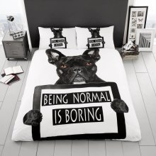 Bulldog Duvet Cover Bedding Set