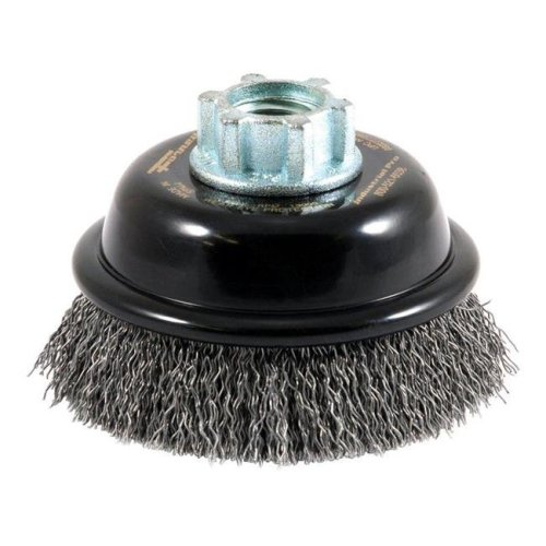 Forney Industries 2407385 3 in. Dia. x 0.63 in. Coarse Steel Crimped Wire Cup Brush