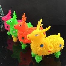 Flash Light Deer Children Stress Reliever Balls Light Up Toy