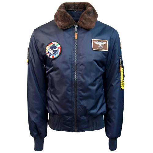 0dfa4bb5f Top Gun B 15 Nylon Bomber Jacket with Removable Patches Navy