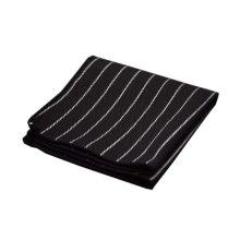 2 Pieces Of Cotton Hand Towel Handkerchief Pocket Towel, BLACK