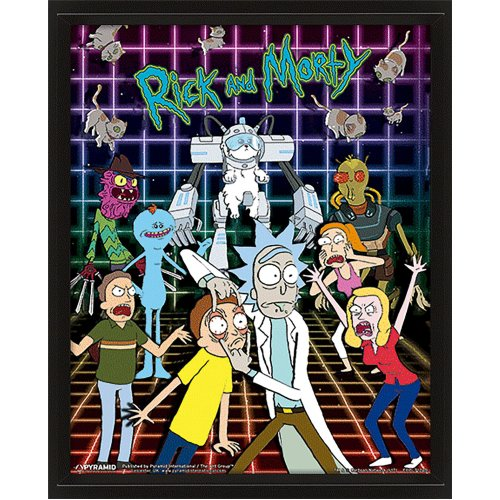Rick And Morty (Characters Grid) 10X8 3D Lenticular Picture