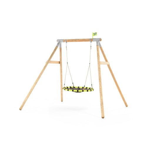 TP Toys Eagle Wooden Swing Set With Giant Nest Swing Ages 3 Years+ Colour Yellow/Black