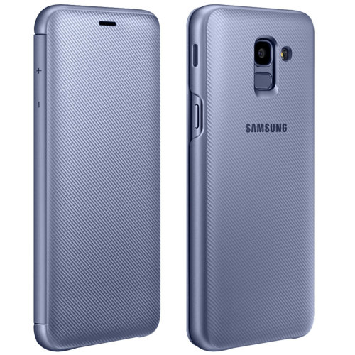 Official Samsung Flip Wallet Cover  EF-WA605 for Samsung Galaxy J6 - Grey