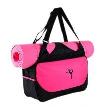 Outdoor Sport Bag Waterproof Training Yoga Bag Thicken Exercise Yoga Mat Bag-Rose Red