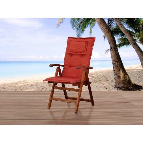 Comfortable cushion for chair Toscana - terracotta