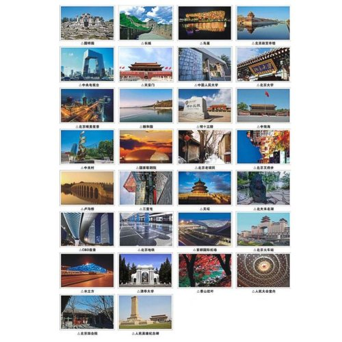 30PCS 1 Set Creative Postcards Artistic Beautiful Postcards, Beijing