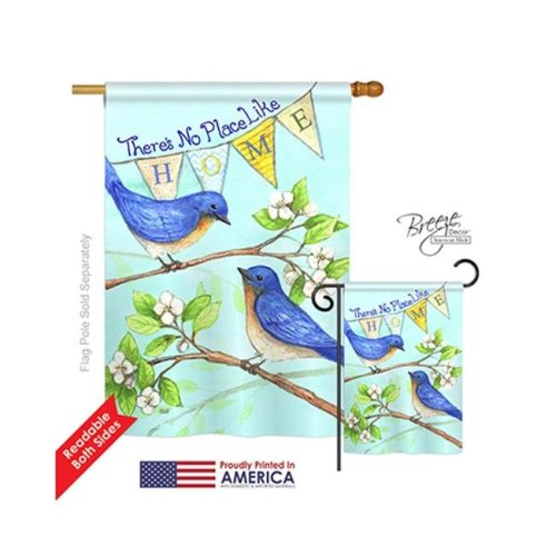 Breeze Decor 00059 Welcome Like Home 2-Sided Vertical Impression House Flag - 28 x 40 in.