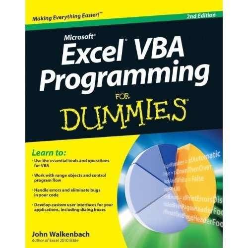 Excel VBA Programming for Dummies (For Dummies (Computers))