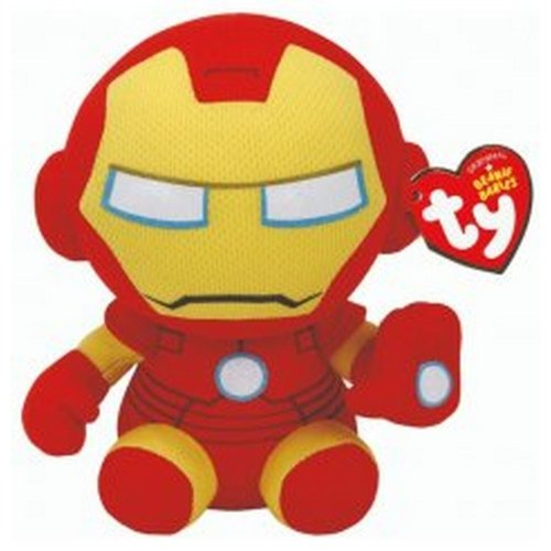 TY Iron Man Beanie Baby Soft Toy