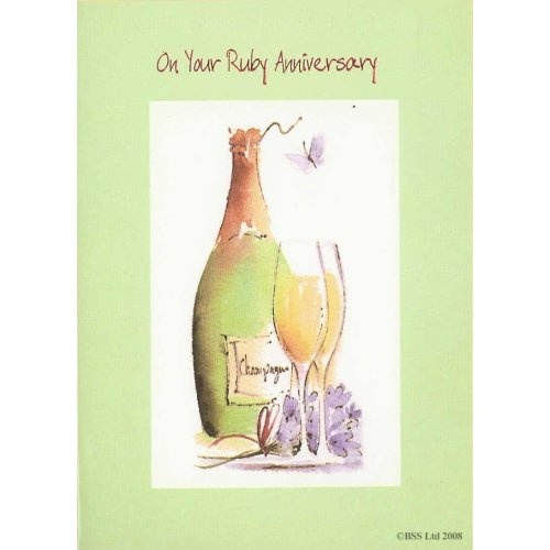 On your Ruby Anniversary Card Greeting Card