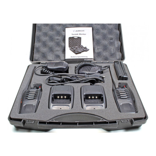 Portable PMR radio station Albrecht Tectalk Worker set with 2pcs Code 29830 includes Microphone with