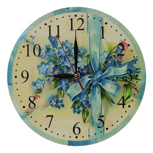 Obique Home Decoration Bouquet of Flowers Scene 28cm MDF Wall Clock