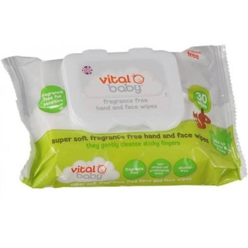 Vital Baby Fragrance Free Hand and Face Wipes