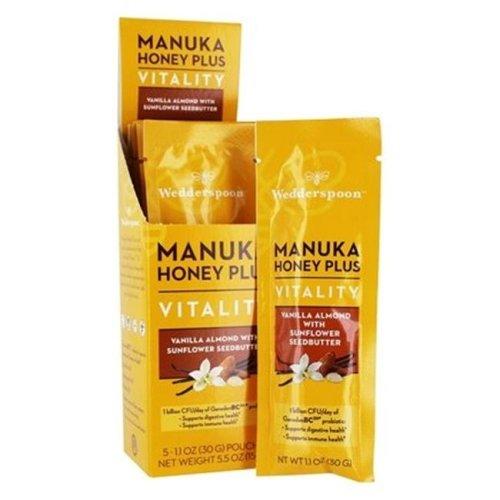Wedderspoon KHFM00320855 Vitality Sunflower Seedbutter Vanilla Almond Manuka Honey Plus, 200 gm