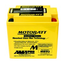 Motobatt MB9U Upgrade Motorcycle Battery Replaces YB9-B, 12N9-4B-1, YB9L-B