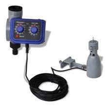 vidaXL Automatic Garden Irrigation Timer with Rain Sensor