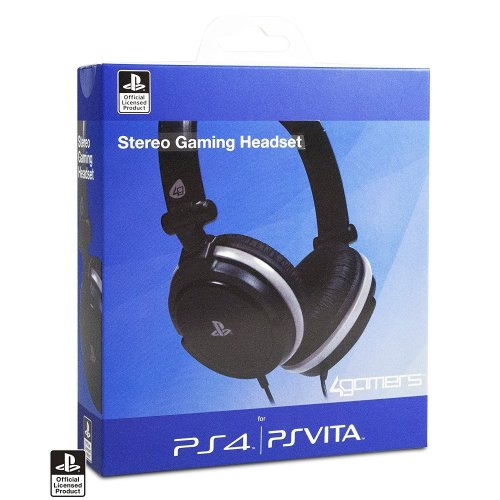 4gamers Stereo Gaming Headset for Playstation 4 Ps4 Black