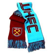 West Ham United Fc Football Team Fade Knitted Supporters Scarf - Fd Official New -  scarf west ham united fc fd fade football official new team
