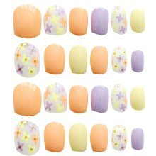 24 Pcs Fashion Nails Stickers Beautiful Nail Decorations False Nails Tips [I]