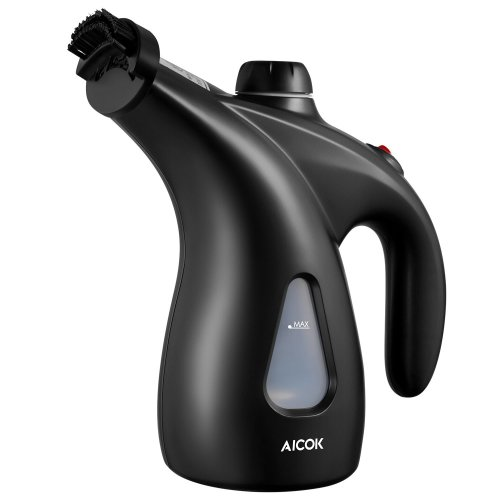 Aicok Garment Steamer, 200ml Portable Clothes Steamer, 900W Powerful Handheld Steamer, Fast Heat-up Clothing Steamer with Brush & Pouch for Home...
