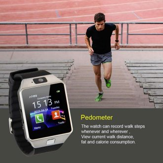 Bluetooth Smart Watch Camera Wrist Phone With SIM For All Smart Phone