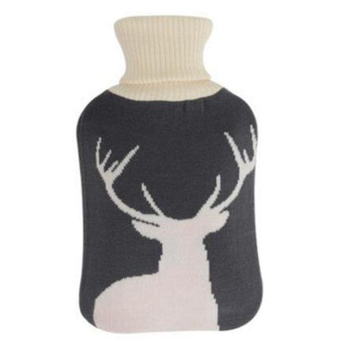 2LWarm Cute Hot-Water Bottle Water Bag Water Injection Handwarmer Pocket Cozy Comfort,E