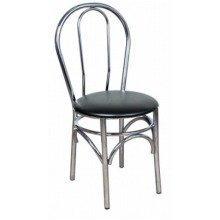 Ella Kitchen Dining Chair Chrome Frame Padded Seat