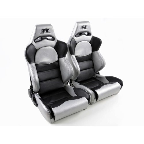 Sportseat Set Edition 1 artificial leather black/silver