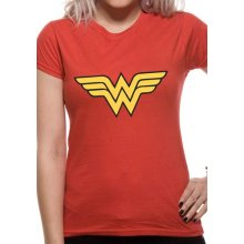 Wonder Woman -  wonder logo woman fitted tshirt red dc comics womens small official brand new