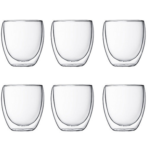 Bodum Pavina Double Walled Thermo Glasses, Set of 6 - 25 Cl