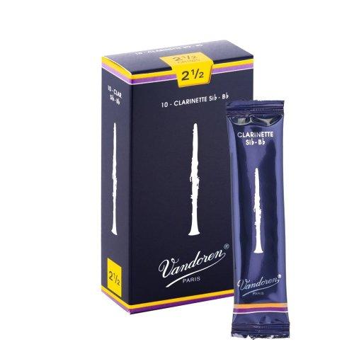 Vandoren CR1025 Traditional Bb Clarinet Reeds (Strength 2.5) (Pack of 10)
