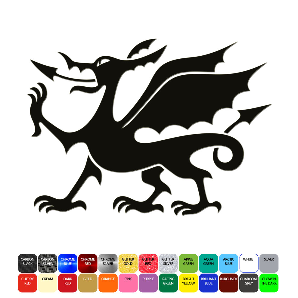 Welsh dragon car sticker wall window laptop phone premium grade waterproof vinyl on onbuy