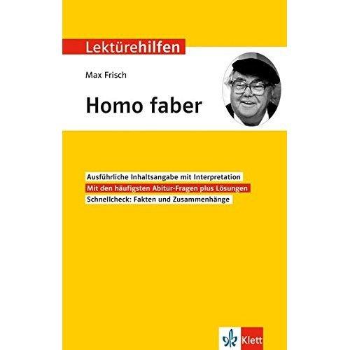"""Lektürehilfen Max Frisch """"Homo faber"""": Für Oberstufe und Abitur"""