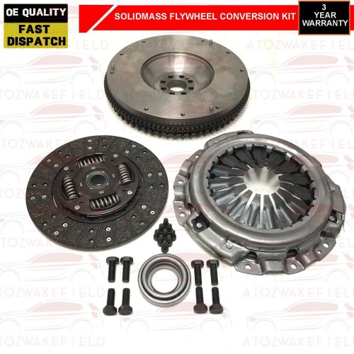 FOR NISSAN NAVARA D40 2.5TD 4WD 2005-2010 CLUTCH & SOLID FLYWHEEL CONVERSION KIT