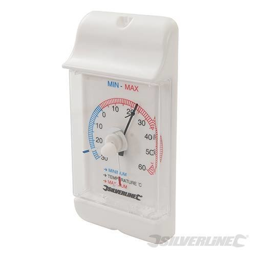 Silverline Min/max Dial Thermometer -30? To +60?c - Minmax 30 60c 573268 -  minmax dial thermometer silverline 30 60c 573268