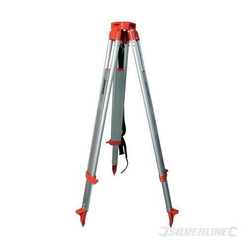 1.6m Telescopic Aluminium Tripod - Silverline 868659 16m -  tripod aluminium silverline 868659 16m