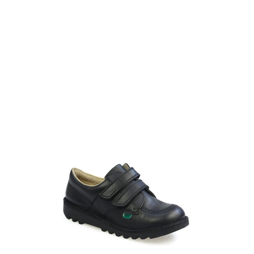 Kickers Kick Lo Velcro Toddlers i Core Black Leather Shoes