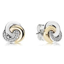 Pandora Interlinked Circles Earring Studs - 290741CZ