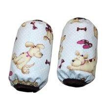 2 Pairs Lovely Baby Waterproof Oversleeves Kids Coat Sleeves Covers Dog