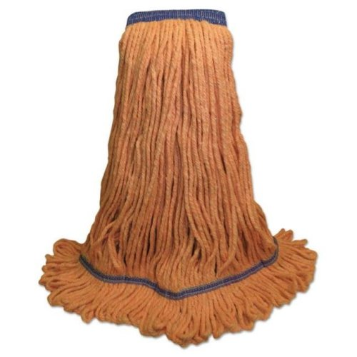 Boardwalk BWK504OR Cotton & Synthetic Fiber Mop with Super Loop Head, Green - Extra Large - 12 Per Carton
