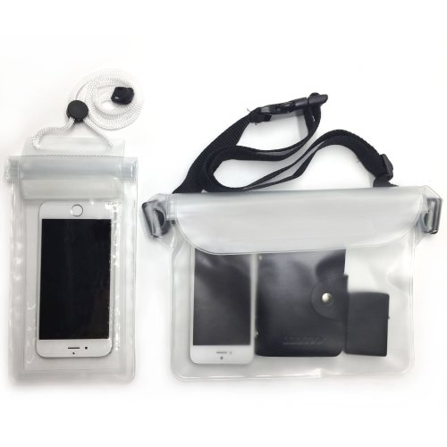 Waterproof Bum Bag & Waterproof Phone Case for Swimming Boating Kayaking Fishing Hiking Water Park etc...