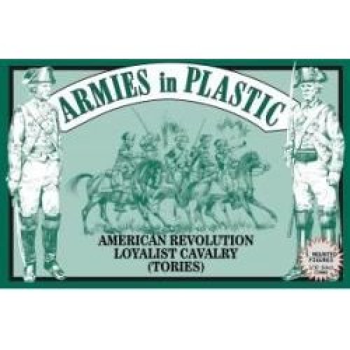 American Revolution Loyalist Cavalry (Tories) (5 Mounted) 1/32 Armies in Plastic