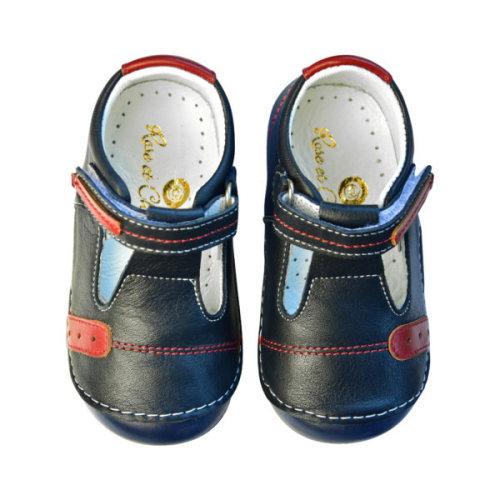 Navy T-strap Sandal