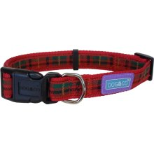 "1"" x 18-24"" Red Adjustable Dog Collar -  dog collar nylon adjustable tartan red accessories collars hem boo large 1x1824"