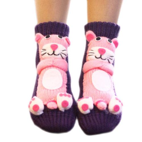 A Pair Non-slip Cute Sleeping Socks Slipper Socks Floor Socks-A06