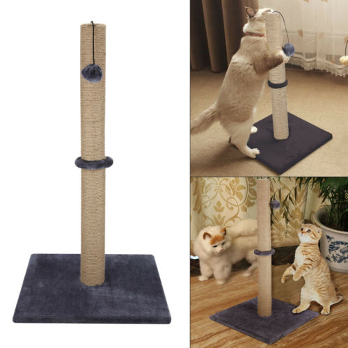 Grey Cat/Kitten Extra Tall Sisal Scratching/Scratcher Post?74CM ) UK
