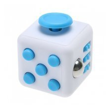 Blue Fidget Cube Toy Children Adults Stress Relief Autism ADD ADHD