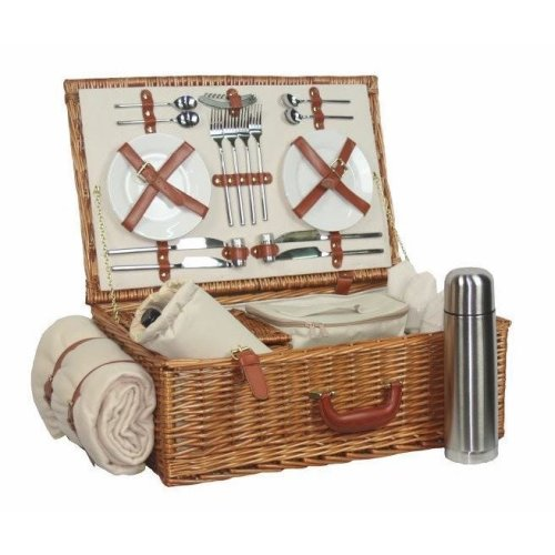 Deluxe Fully Fitted 4 Person Traditional Picnic Basket