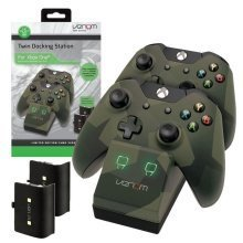 Venom Xbox One Twin Docking Station and 2 Rechargeable Battery Pack Camo Edition